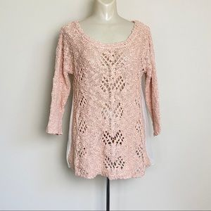 Anthropologie Sweaters - Anthropologie Knitted Knotted Pink Sweater Sylt